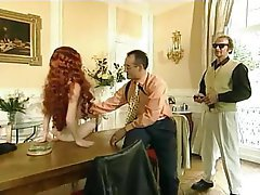 French, Group Sex, Pornstar, Redhead
