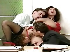 Vintage, Stockings, French, Gangbang