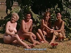 Vintage, Outdoor, Nudist