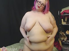 Webcam, BBW, Masturbation