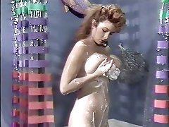 Brunette, Cumshot, Shower, Vintage