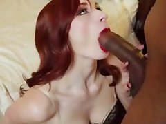 Cock huge redhead sucking