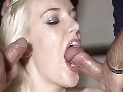 Blowjob, Blonde, Double Penetration, Facial