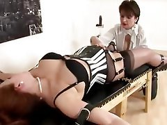Bondage, Pantyhose, Redhead, Stockings